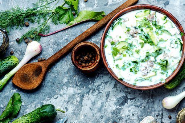 Самые эффективные рецепты диетической окрошки для похудения
